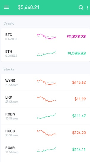 Robinhood Investing History