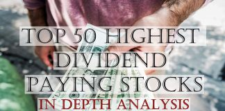 Top 50 Highest Paying Dividend Stocks