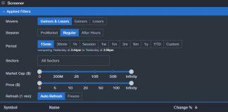 News Screener With Benzinga Pro