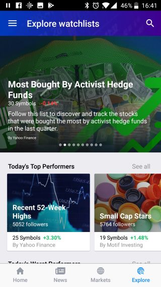 Yahoo Finance App - Visually Beautiful