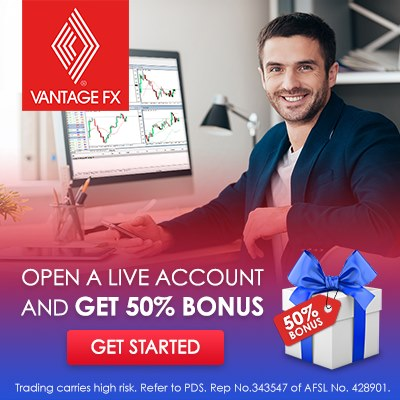 Vantage FX Special Bonus 50% Rebate