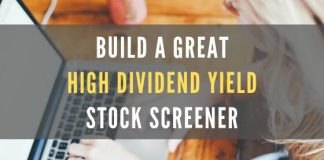 5 Steps to a High Dividend Yield Stock Screener & Strategy