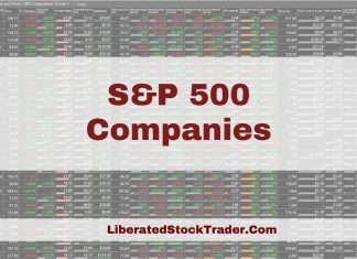 S&P 500 Companies By Sector / Market Cap & PE Ratio